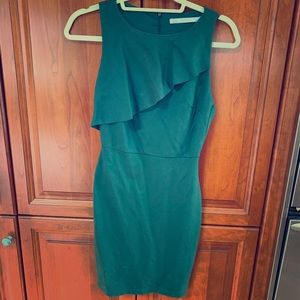 Zara Sexy Forest Green Dress SZ M but fits a small